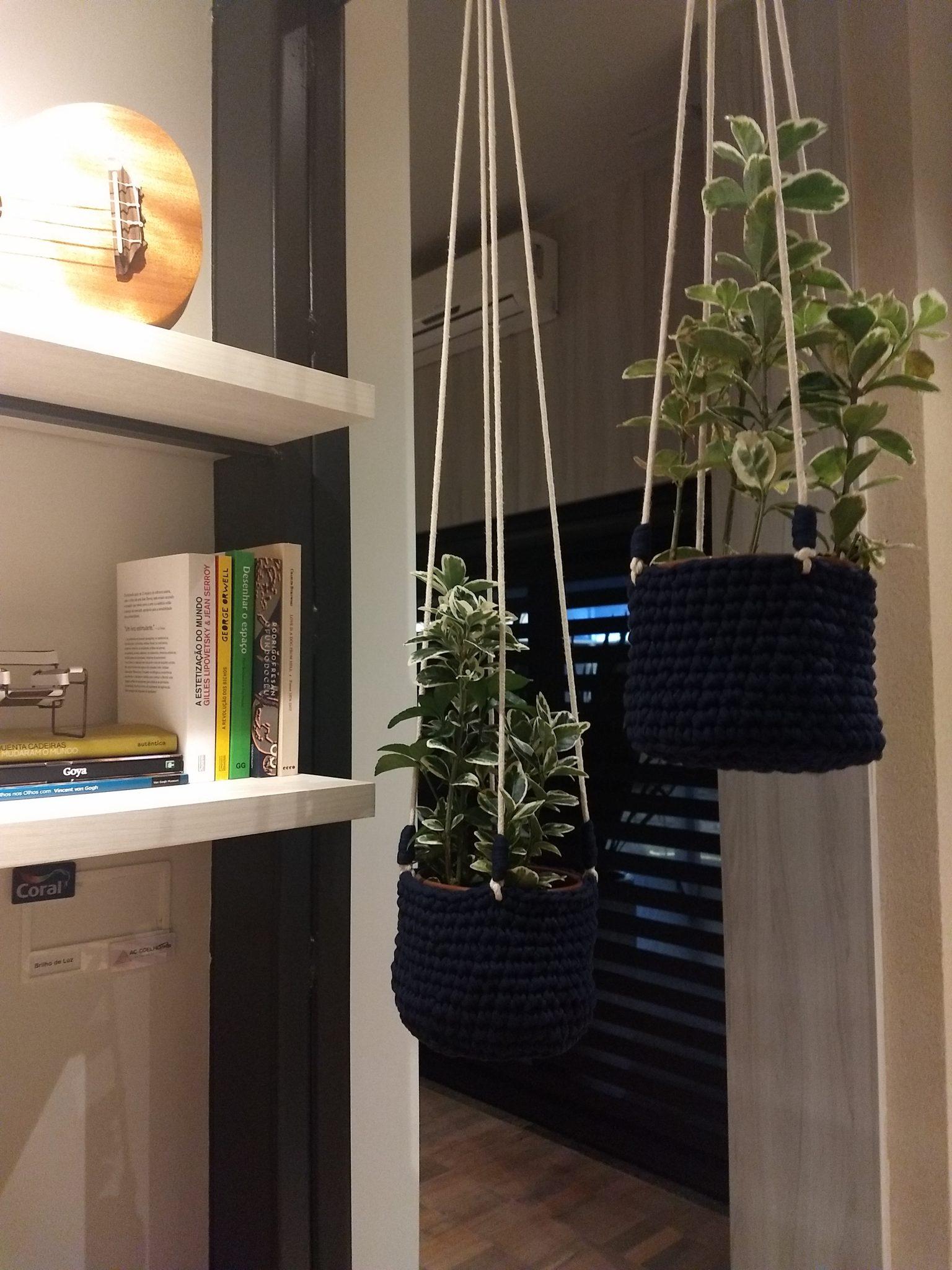 As plantas suspensos já faz tempo que eu quero aderir em casa