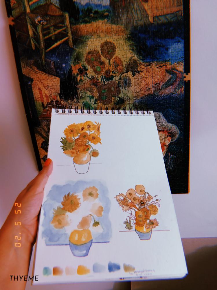 estudo-do-girassol-van-gogh-aquarela